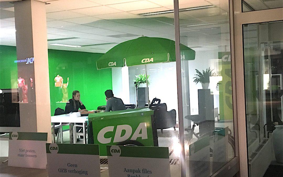 Campagnewinkel CDA Wijchen aan de Burchtstraat
