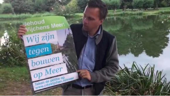 Teken petitie 'Handen af van het Wijchens Meer' en bestel raamposter!